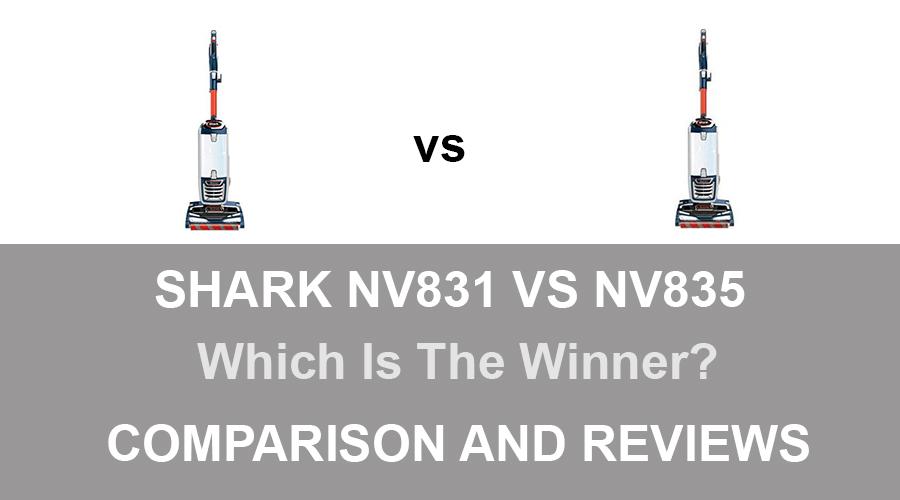 Shark NV831 vs NV835
